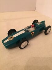 Rare Vintage 1960's 70's Ferrari LUCKY TOY FRICTION Green  RACE CAR Hong Kong