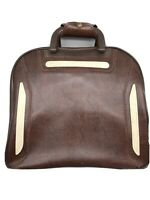 Vintages Brunswick Bowling Ball Bag - Brown Leather