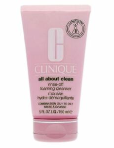 Clinique All About Clean Rinse-Off Foaming Cleanser Mousse 5oz Full Size FREE SH