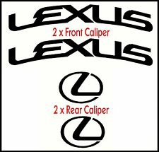 LEXUS CURVED HIGH TEMP BRAKE CALIPER CAST VINYL DECAL SET  STICKERS GRAPHICS MOD