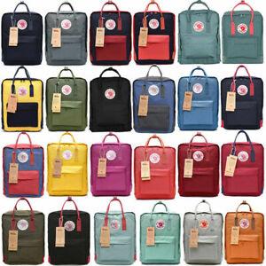 Fjallraven Kanken Backpack School Waterproof 7/16/20L Handbag Sport Travel Bag