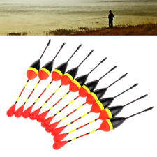 10pcs Carp Fishing Floats Set Buoy Bobber Stick For Fish Tackle Vertical 8# 1.2g