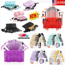 32Pcs Cosmetic Makeup Brush Tool Eyebrow Shadow Face Lip Kabuki Blending Brushes