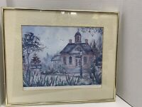 """Williamsburg Courthouse Print Signed Lucretia Restrepo Numbered Framed 20""""x16"""""""
