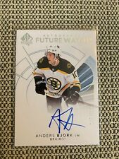 2017-18 UD SP Authentic Autographed Future Watch Anders Bjork Boston Bruins /999