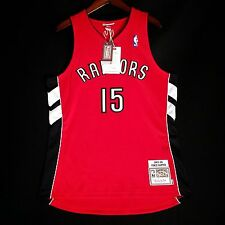 100% Authentic Vince Carter Mitchell Ness 03 04 Raptors away Jersey Size 44 L
