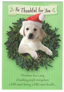 LABRADOR RETRIEVER PUPPY DOG Hallmark Christmas Greeting Card Envelope New MG19
