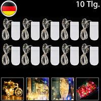 10er Set 3M 30LEDs Kupferdraht Lichterketten Weihnachtsleuchte Batterie Warmweiß