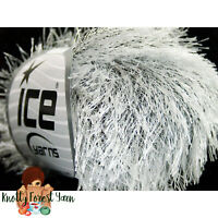 Dark Chocolate Eyelash Yarn Ice Solid Dark Brown Fun Fur 22754 50gram