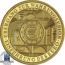 Deutschland 100 Euro Goldmünze Währungsunion 2002 Stempelglanz 1/2 Oz Gold Mzz G