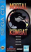 Mortal Kombat (Sega CD, 1993) with Manual & Case