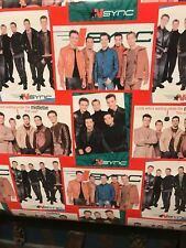 2x Nsync Rolls Gift Wrapping Paper Birthday Christmas or Gift Justin Timberlake
