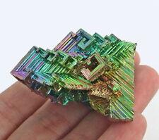166Ct Rainbow Bismuth Crystal Mineral Specimen Rough Heated YBK15