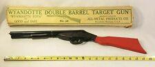 Vintage Wyandotte Double Barrel Toy Gun Cork Pop  All Metal Products