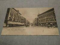 Vtg Postcard Main Street Hudson Mass MA Massachusetts 1906