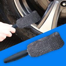 Black Plastic Handle Microfiber Wheel Tire Rim Brush Wash Cleaner for Car SUV