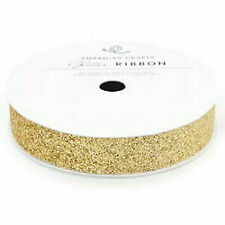 American Crafts Solid Glitter Ribbon 5/8-in X 3yd Gold Ac58685