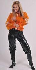 PVC Jogging Sweat Sauna Rain Trousers Rubber pants black gloss