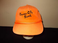 VTG-1980s Panama City Beach Florida Spring Break neon rope zipback hat sku23