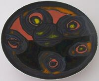 Rare Poole Pottery Delphis Abstract Dish With Studio Mark - 1960's Retro