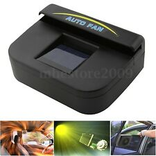 Solar Powered Car Window Windshield Air Ventilation Cooler Cooling Fan Radiator
