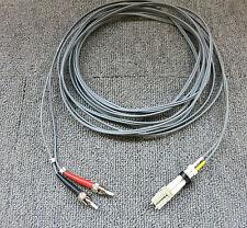 Fibre Optic Cable 4M ST To LC 0M1 62.5/125 2.0mm Multimode Deplex Grey