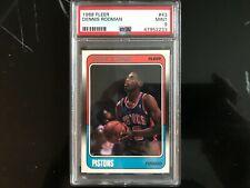 1988 Fleer DENNIS RODMAN Rookie RC HOF #43 PSA 9 Detroit Pistons Chicago Bulls