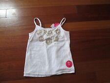 Girls Justice white cameo bra shirt size 10 NWT