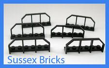 Lego - 6x Black Train Wagon End Fence Hand Rail 1x6 6583 - Brand New Pieces