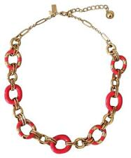 Mod Moment Necklace & Earrings set Kate Spade Geranium Pink Striped Chain Link
