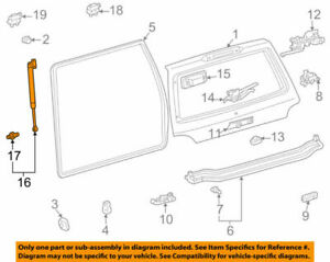 68960-69017 Toyota Stay assy, back door, lh 6896069017, New Genuine OEM Part