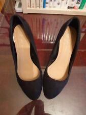 Primark Black Suede Shoes Size 4