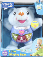 VTECH BABY LITTLE SINGING BEAR. BLUE. Teaches Music/numbers/sounds/emotions