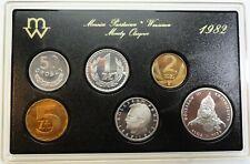 Original KMS SET Circulation Coins 1982 Poland Polen 50 groszy - 50 zlotych