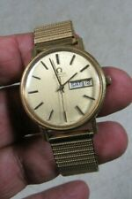 Vintage 1960's Omega Carrure Lunette Automatic Day/Date Wristwatch Swiss