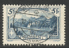 Switzerland 1928 5fr blue The Rutli--Attractive Topical (206) fine used