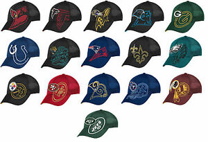 NFL Reebok Men's End Zone Structured Flex Hat Cap ASSORTED TEAMS Tw86Z