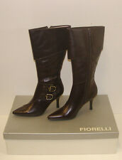 FIORELLI WOMENS POINTY WINTER BOOTS SIZE 7 LEATHER LADIES JAYE CHOC rrp $299.95