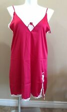Ekouaer Nightgown Lingerie Plus Size XXL Red Sexy
