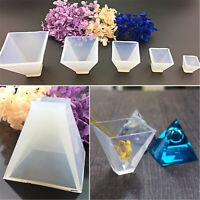 Pyramid Shape Silicone Mould DIY Resin Decorative Art Mold Jewelry Making Craft