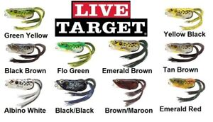 """Koppers Live Target Hollow Belly Frog, FGH55T, 2-1/4"""", 1/2 oz, Choice of Colors"""
