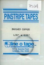 """Line O Tape 1/8"""" x 120"""" Pinstripe Masking Tapes Brushed Copper #PS24"""