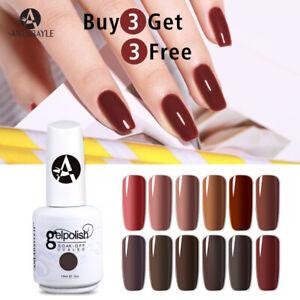 Anlabayle Coffee Series Colour Gel Polish Soak Off Top Base Coat UV LED Nail Art