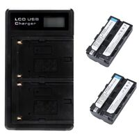 2 Stücke Np-F550 Akku Und Lcd Doppel Batterie Usb Ladegerät Für Sony Np-F55 N5Z7
