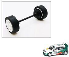 Nuevo SCALEXTRIC W9018 Eje Delantero Ruedas Neumáticos & Para Skoda Fabia WRC Rally Coche