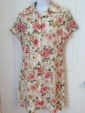 UM & Company Ulterior Motives Floral Button Up Dress Junior 7/8