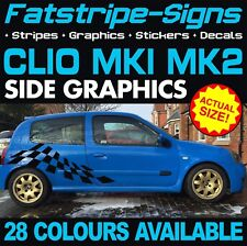 RENAULT CLIO MK1 MK2 GRAPHICS STICKERS STRIPES DECALS SPORT 172 182 V6 RS TROPHY