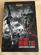 WARHAMMER 40K NOVEL : THE HORUS HERESY : THE FIRST HERETIC  : hardback version