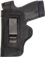 CUSTOM HAND FIT&CUT LEATHER HOLSTER Black RH Right OWB/LH IWB S&W M&P 22 Compact