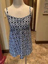 Shape Solver 1 Pc Bathing Suit Swimsuit 10 Skirted Blue Multi NWT $110 (110)